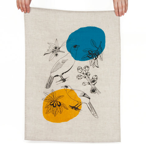 Kokako Linen Tea Towel