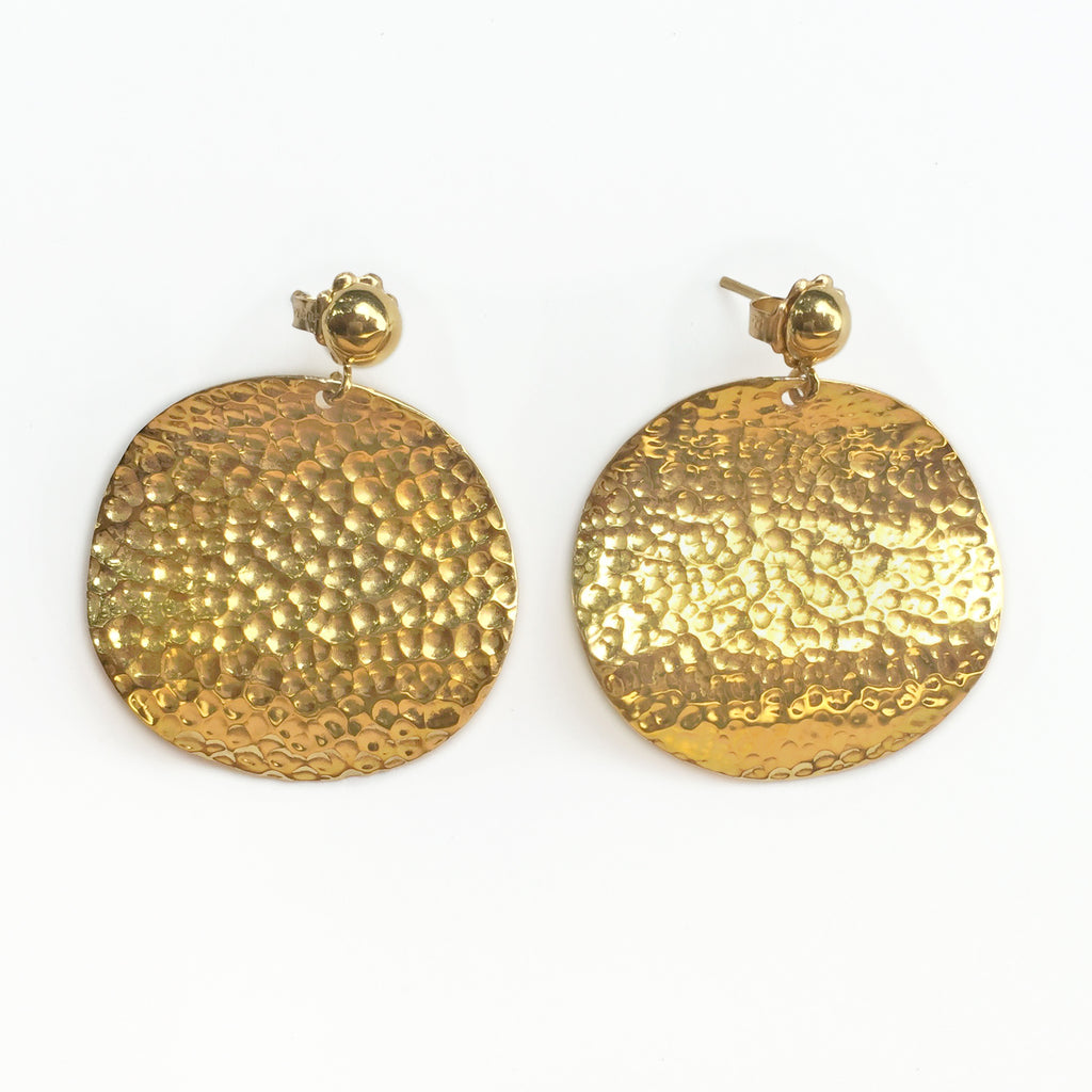 Gold Wave Chandelier Earrings
