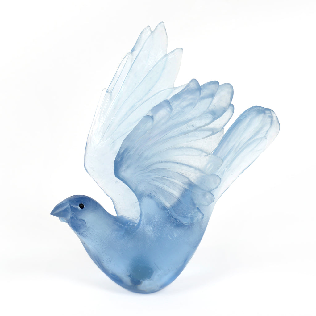 Steel Kokako Glass Bird