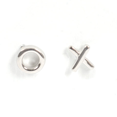 Silver Ex Oh Studs