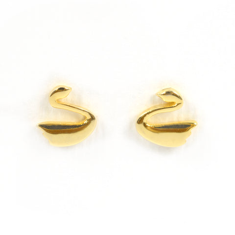 Gold Swan Studs
