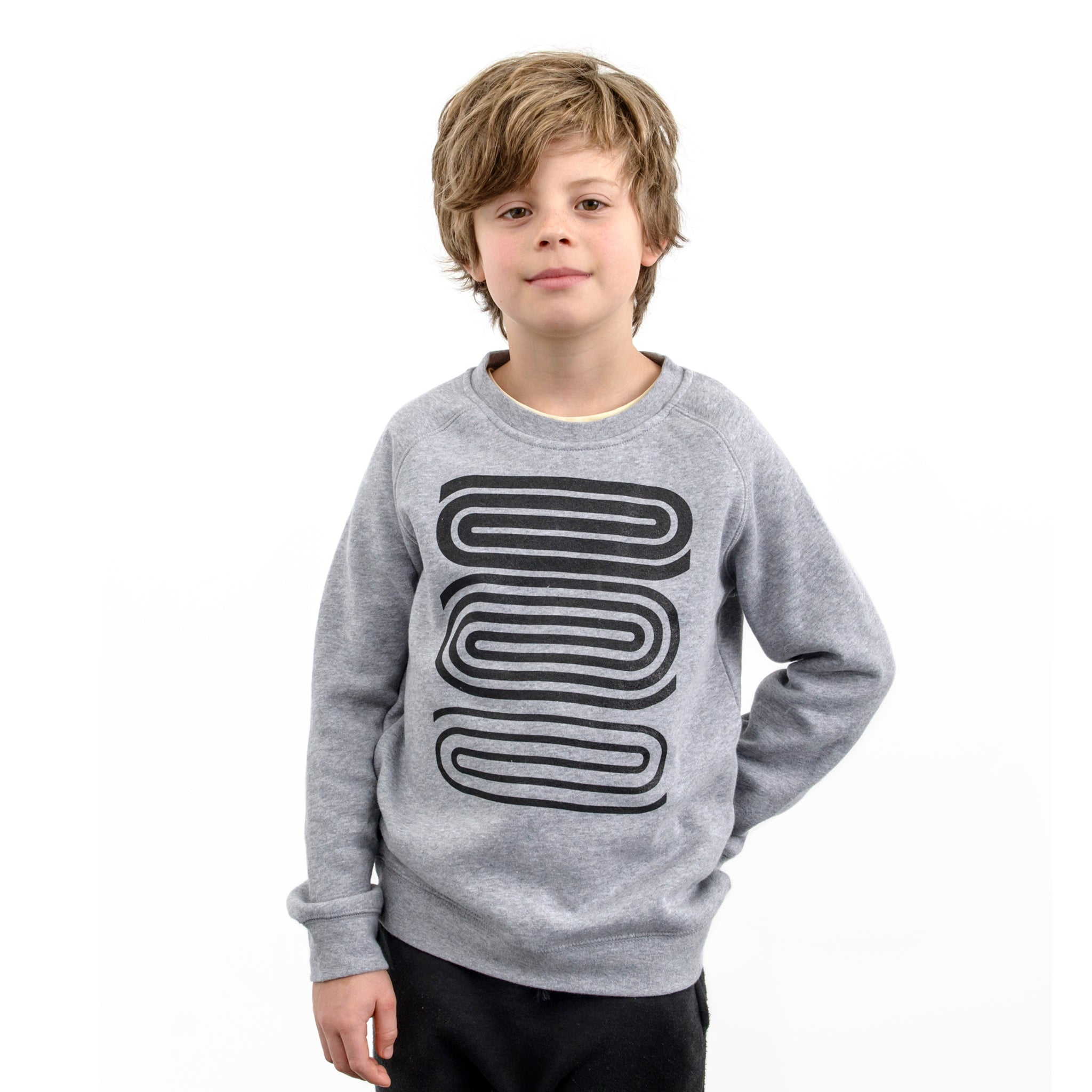 Untitled Black Spirals Kid's Sweat Image