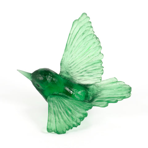 Emerald Tomtit Glass Bird