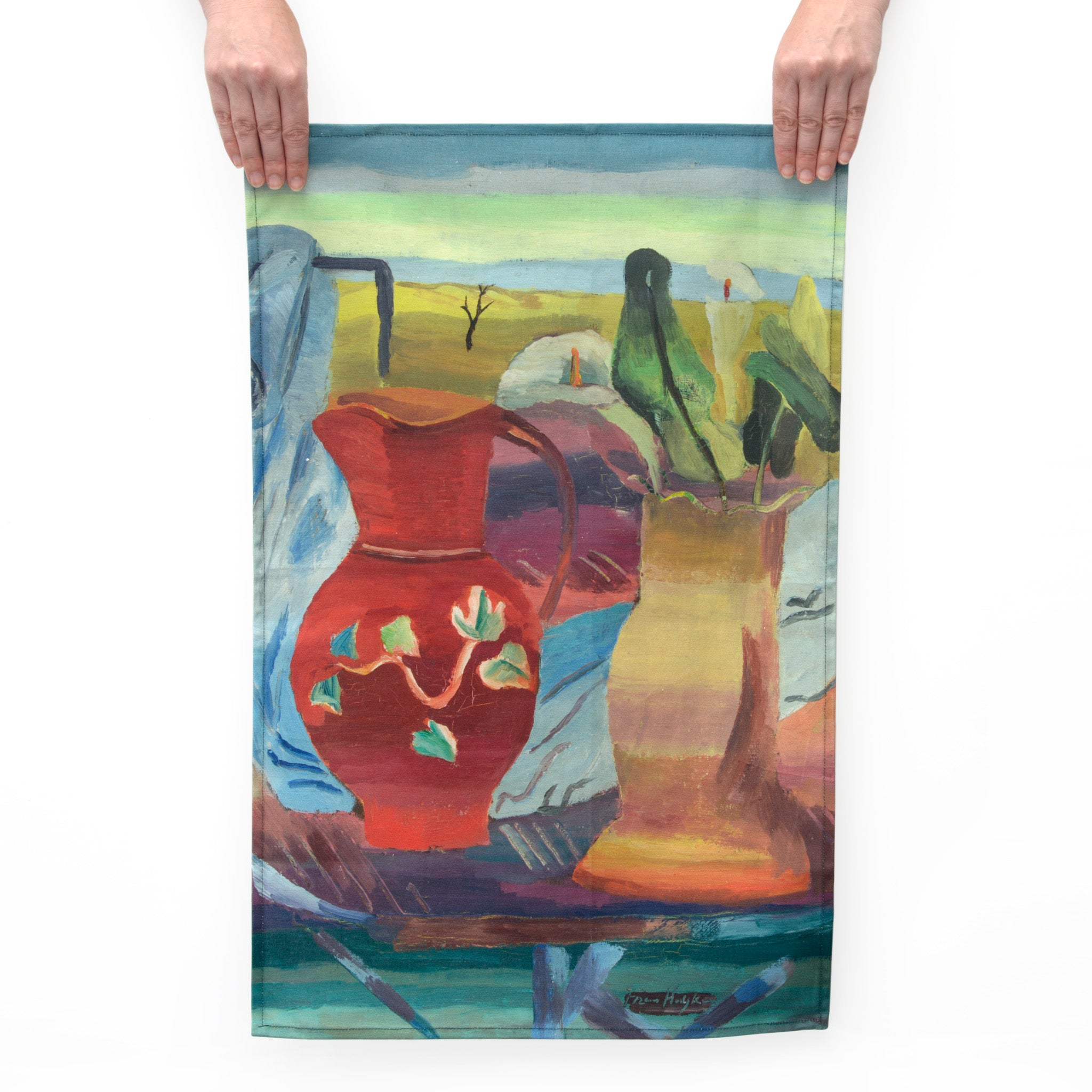 Red Jug Tea Towel Image