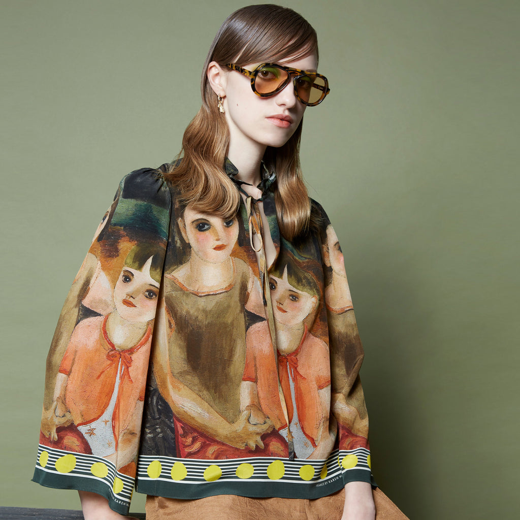 Karen Walker X Frances Hodgkins Two Children Blouse