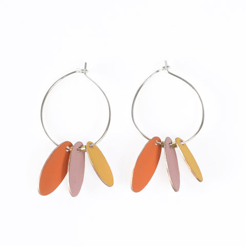 Love Fool Hoops and Drops Orange Earrings