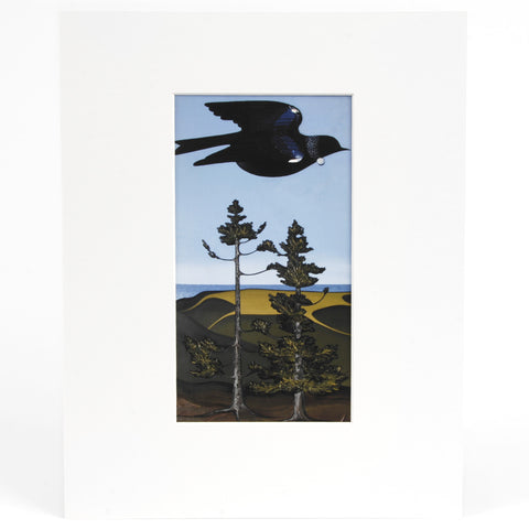 Tui Over Kauri Trees, Te Henga Print