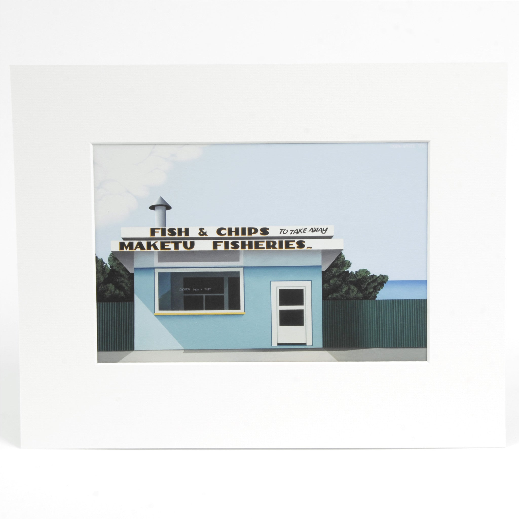 Fish and Chips Maketu Print Image