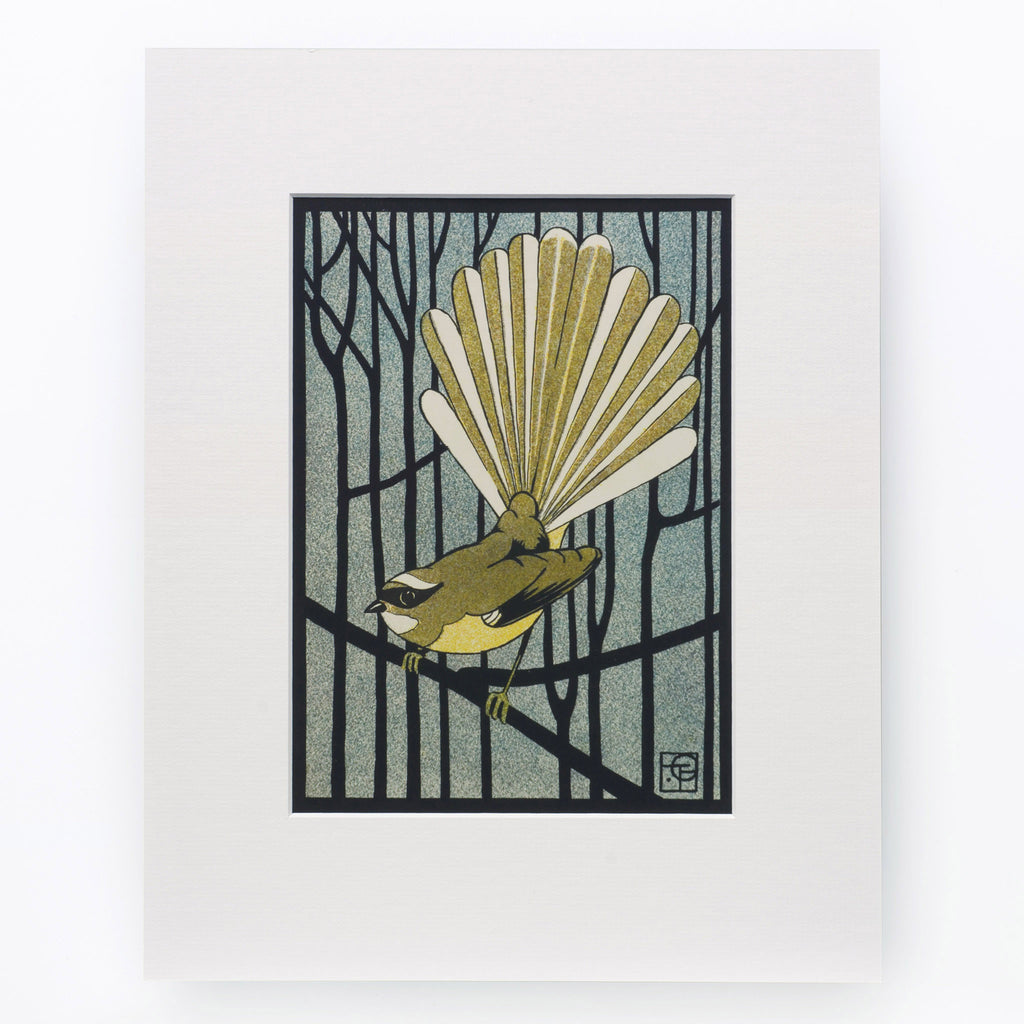Pied Fantail Print