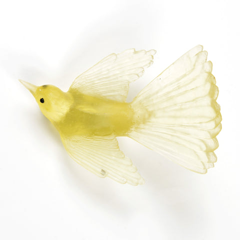 Citrine Fantail Glass Bird