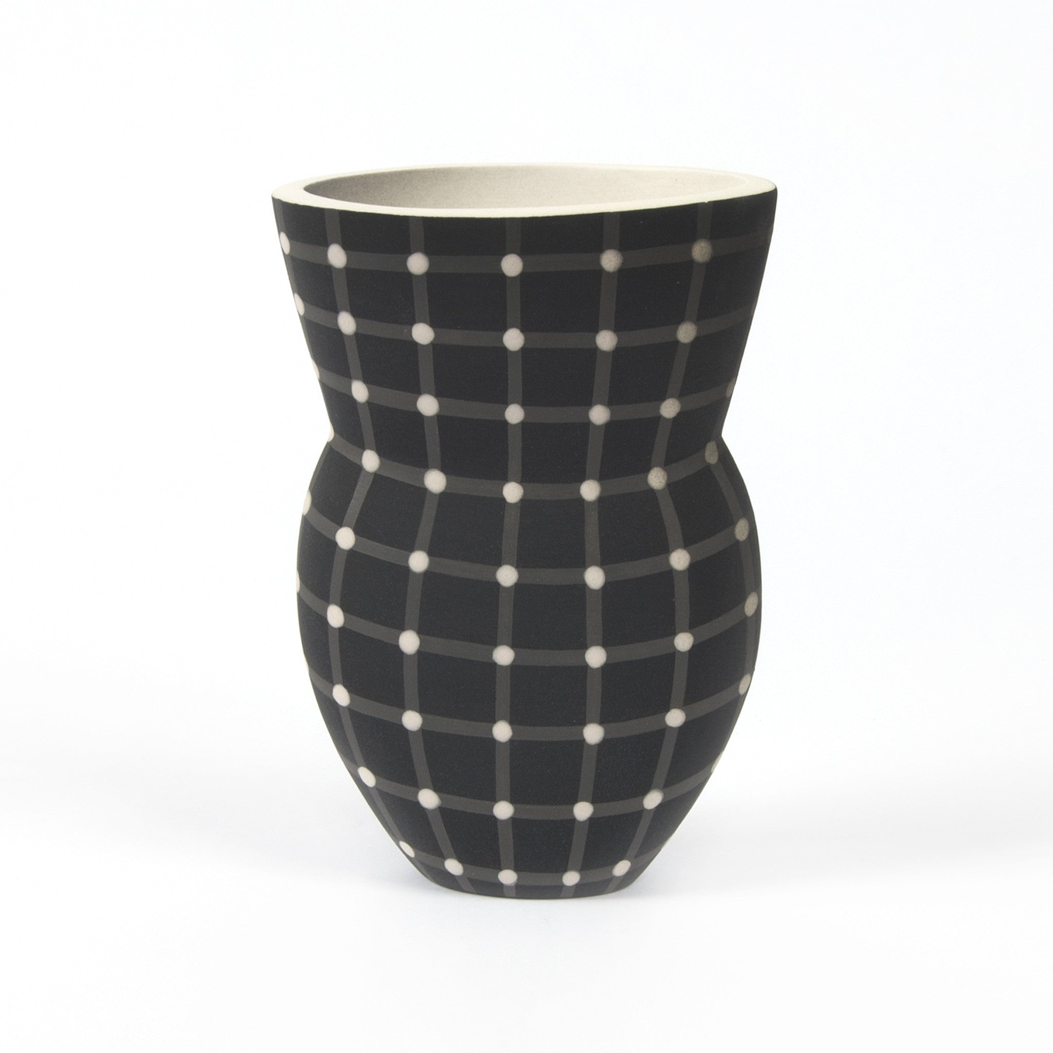 Small Alice Rose Vase - Black Dot Image