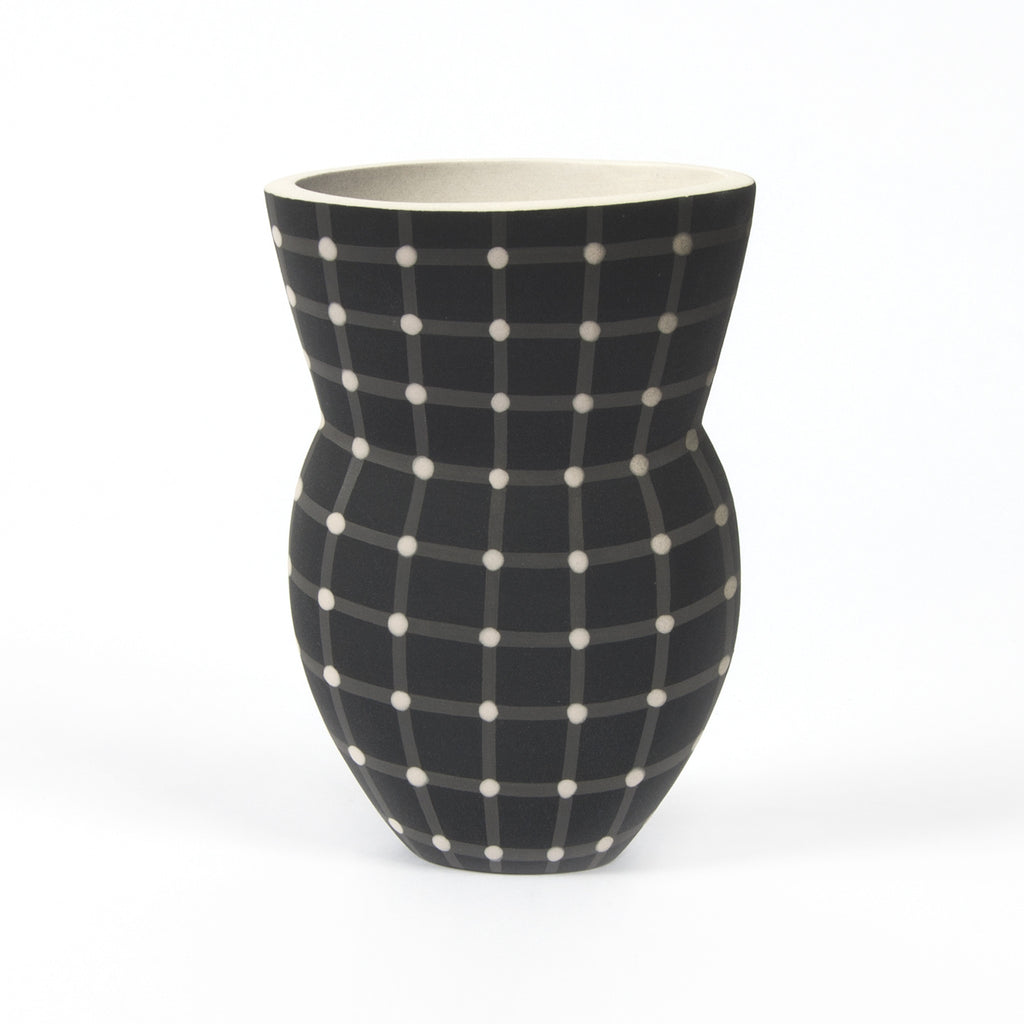 Small Alice Rose Vase - Black Dot