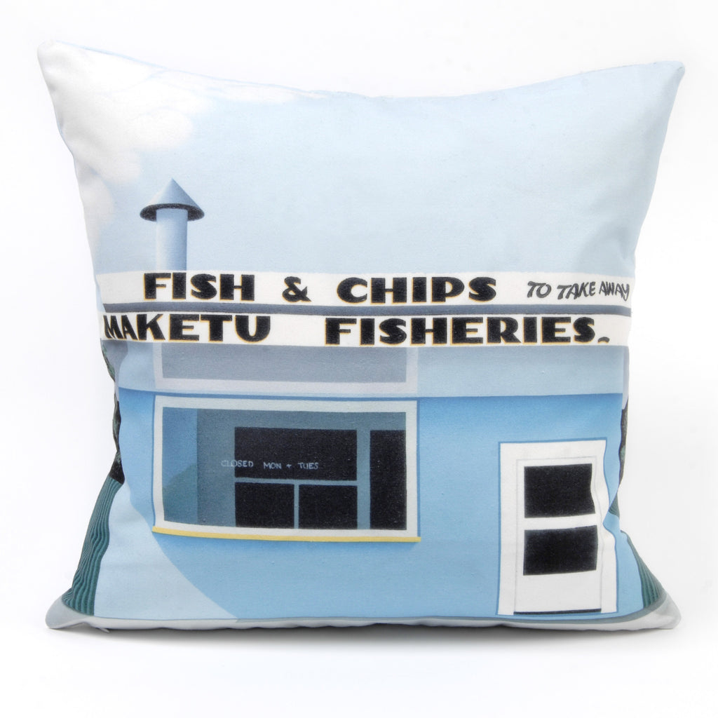 Fish and Chips Cushion Cover - Auckland Art Gallery Shop