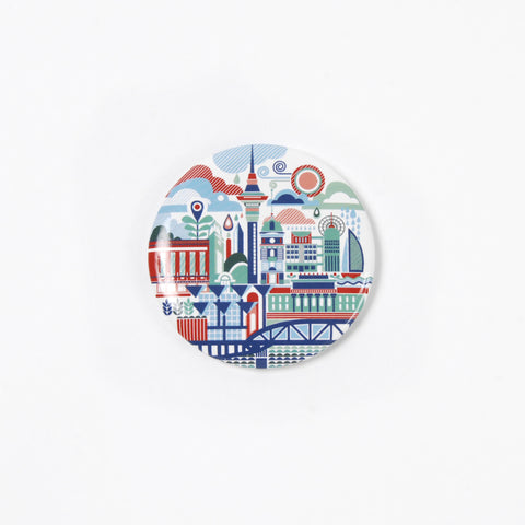 Auckland Art Scape Magnetic Bottle Opener