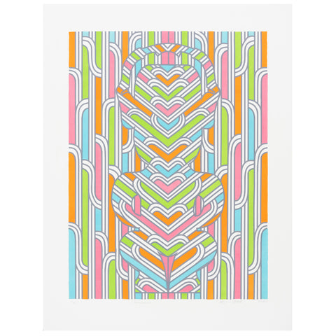 Zena Elliott Frequency Lithograph