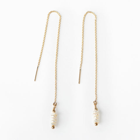 Aya Pearl Threader Earrings