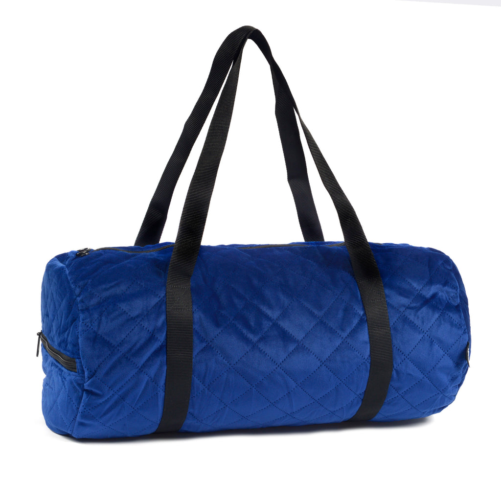 Quilted Blue Weekender bag