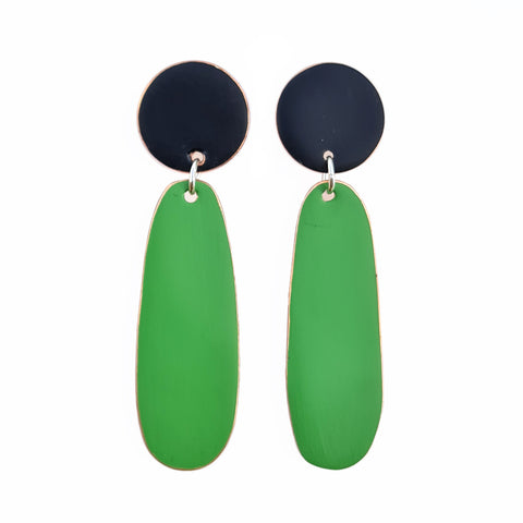 Love Fool Teardrop Earrings Green/Black