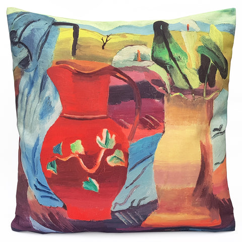 Red Jug Cushion Cover