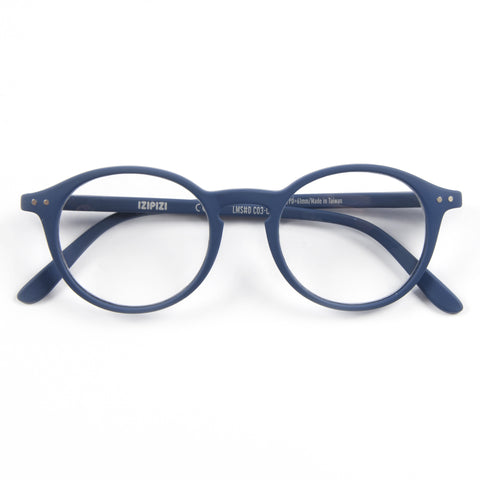 Blue Reading Glasses Style D