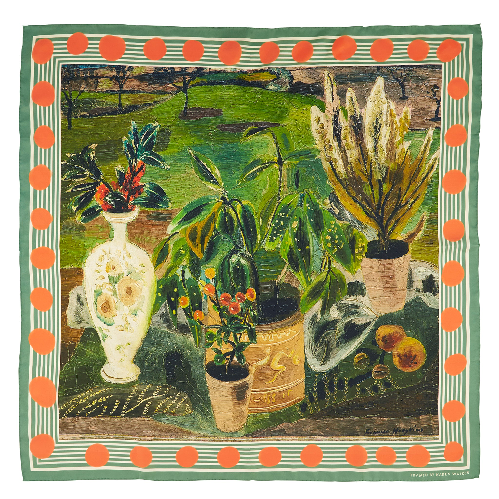 Karen Walker X Frances Hodgkins Berries and Laurel Scarf Image