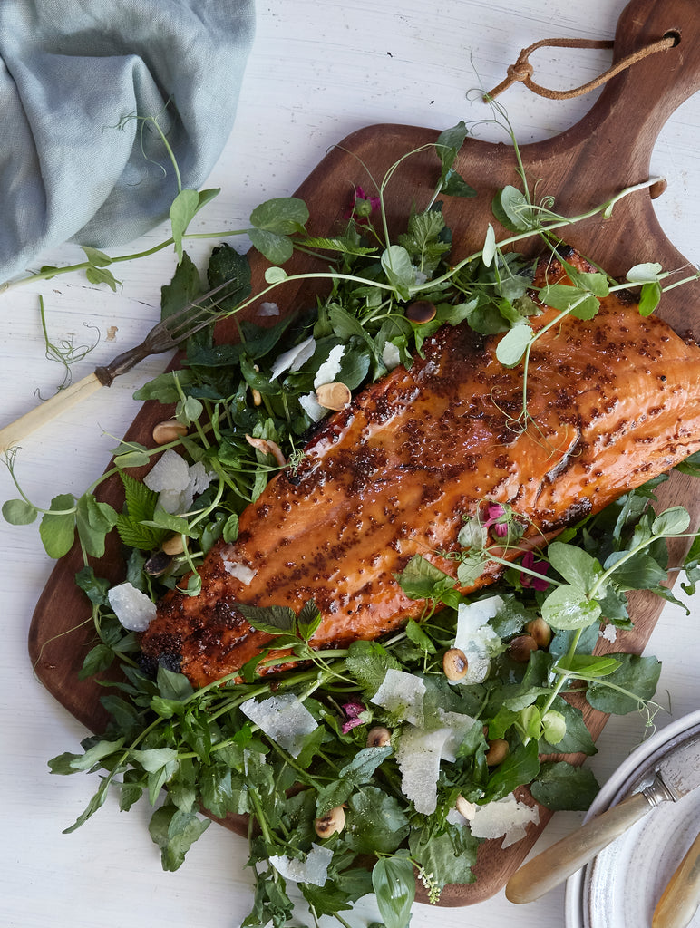Copper River Salmon & Wild Watercress Salad