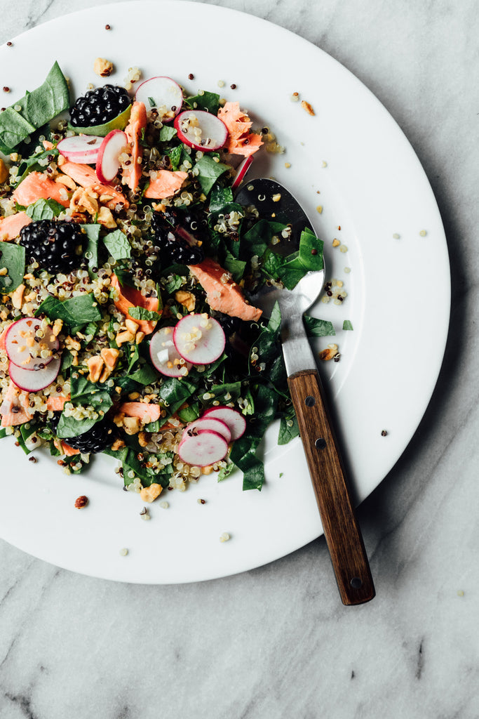 Poached Salmon Quinoa Salad Drifters Fish