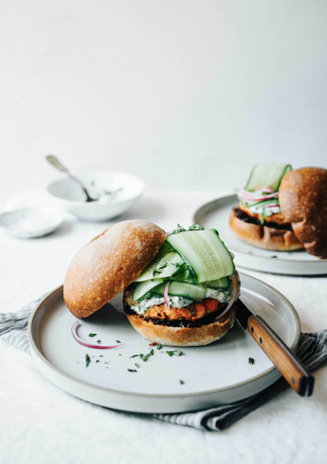 Salmon Burgers with Lemongrass and Ginger
