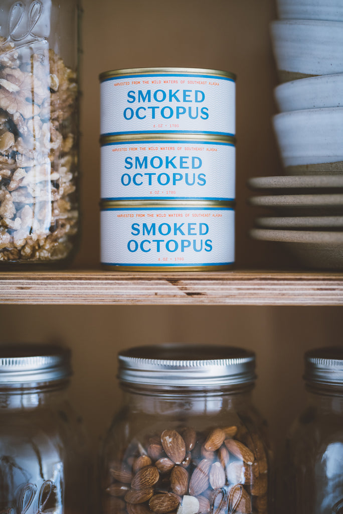Tinned Smoked Octopus