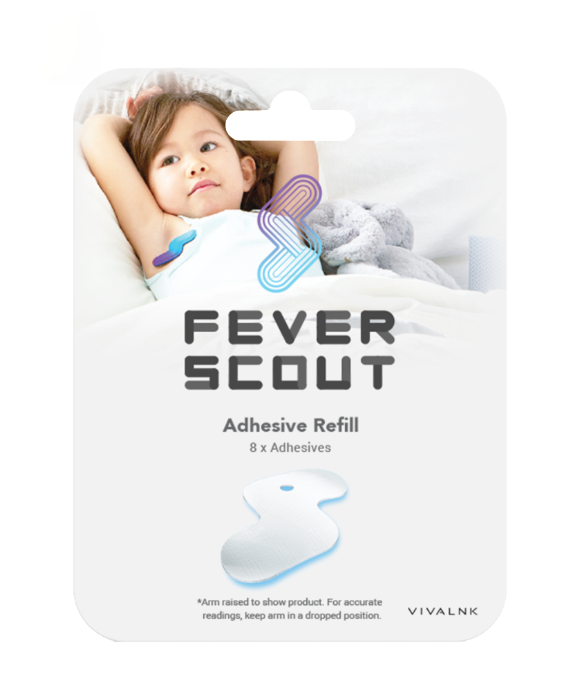 Fever Scout Adhesive Refill Kit (Included 8 Disposable Adhesives; FDA-cleared, Latex-free, Good for Sensitive Skin)