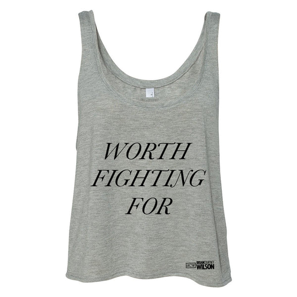 Worth Fighting For Women's Heather Tank