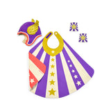 Purple Hero Gift Set, Cape, Hat, Cuffs, Shield, Superhero Gift Bag