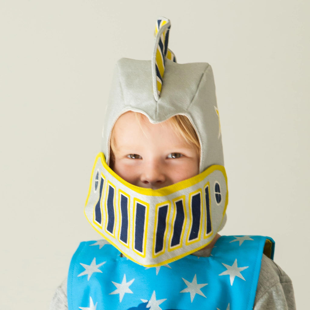 Knight Helmet Costume for Child Silver Lovelane Designs