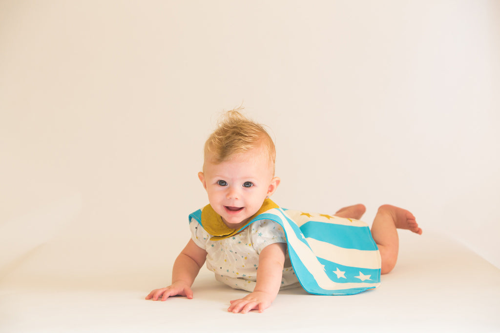 Blue Baby Hero Cape on child