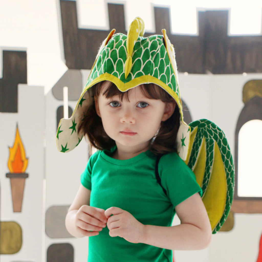 Green dragon wings costume, for baby and toddler, for fairytale dress up, playwear by lovelane designs