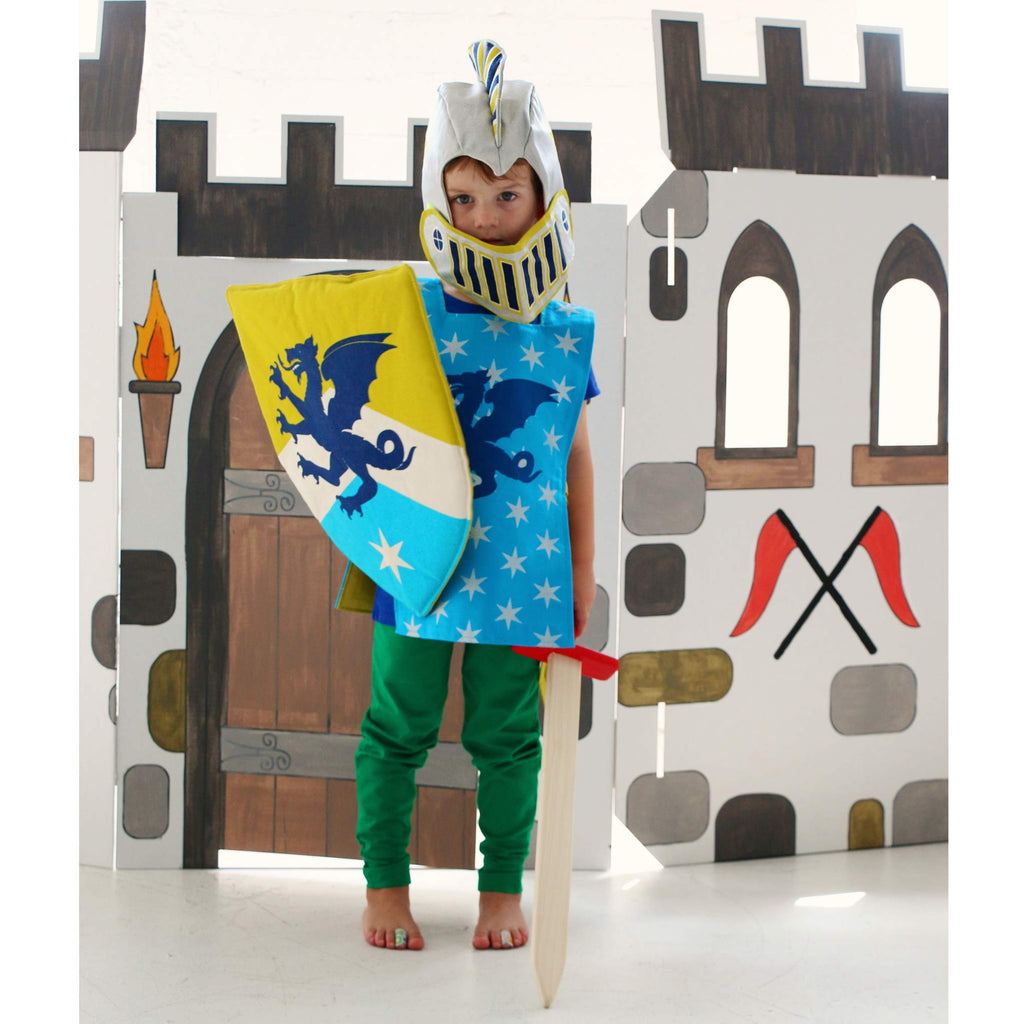 Blue Knight Tunic: Dragon