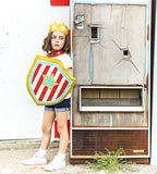 Superhero shield child costume soda machine vintage