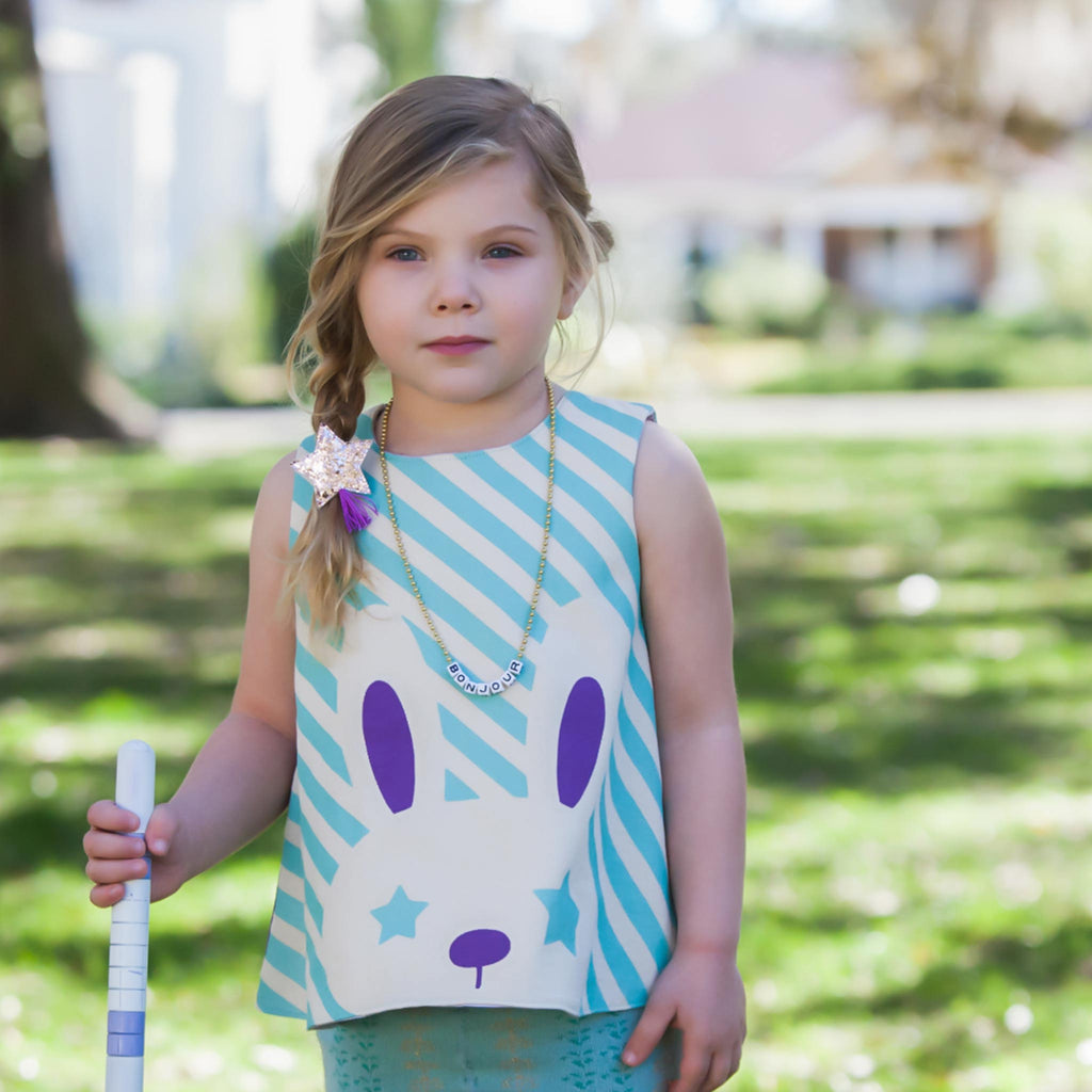 Lavender Starry Eyed Bunny Tunic