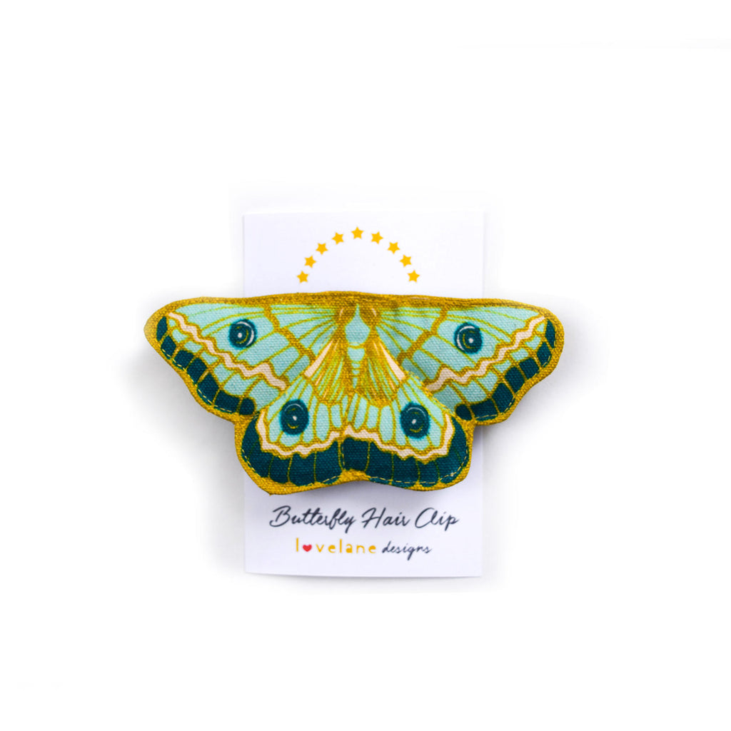 Mint Butterfly Hair Clip