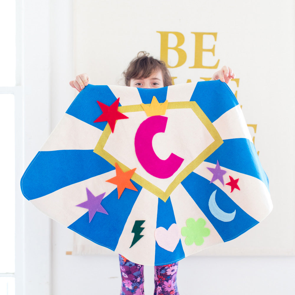 NEW! Create A Cape Kit: Custom Design Your Own Quality Superhero Cape: 3 Color Options