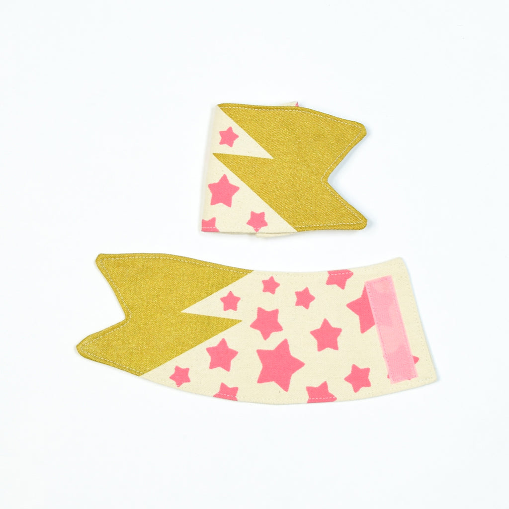 Small Run: Lightning Star Cuffs Pink
