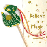 Green Dragon Wand + Crown Gift Set