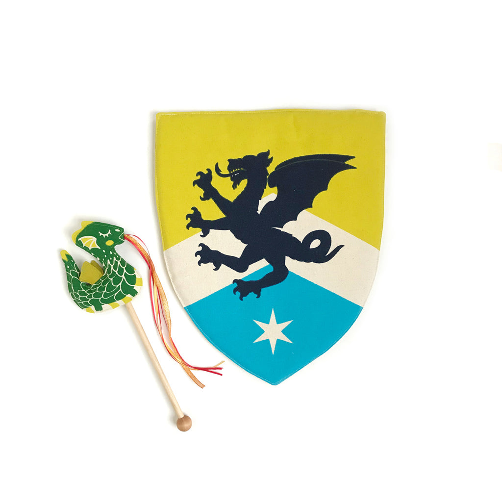 Green Dragon Wand + Knight Shield Gift Set