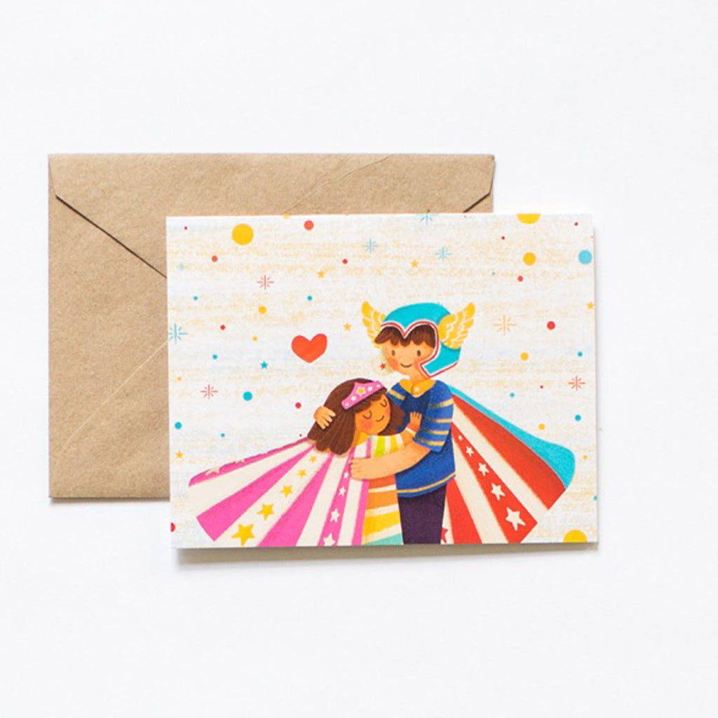 Super Hero Hug Gift Card + Kraft Envelope