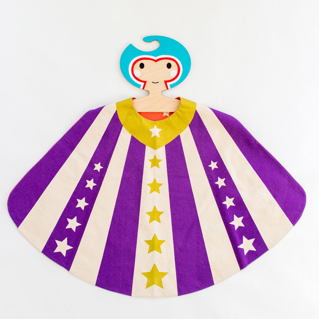 LIMITED Collaboration: Super Hanger + Super Hero Cape of your choice, Blue Hanger