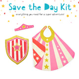 Save the Day Kit: Super Tiara, Shield and reversible Hero Cape Pink