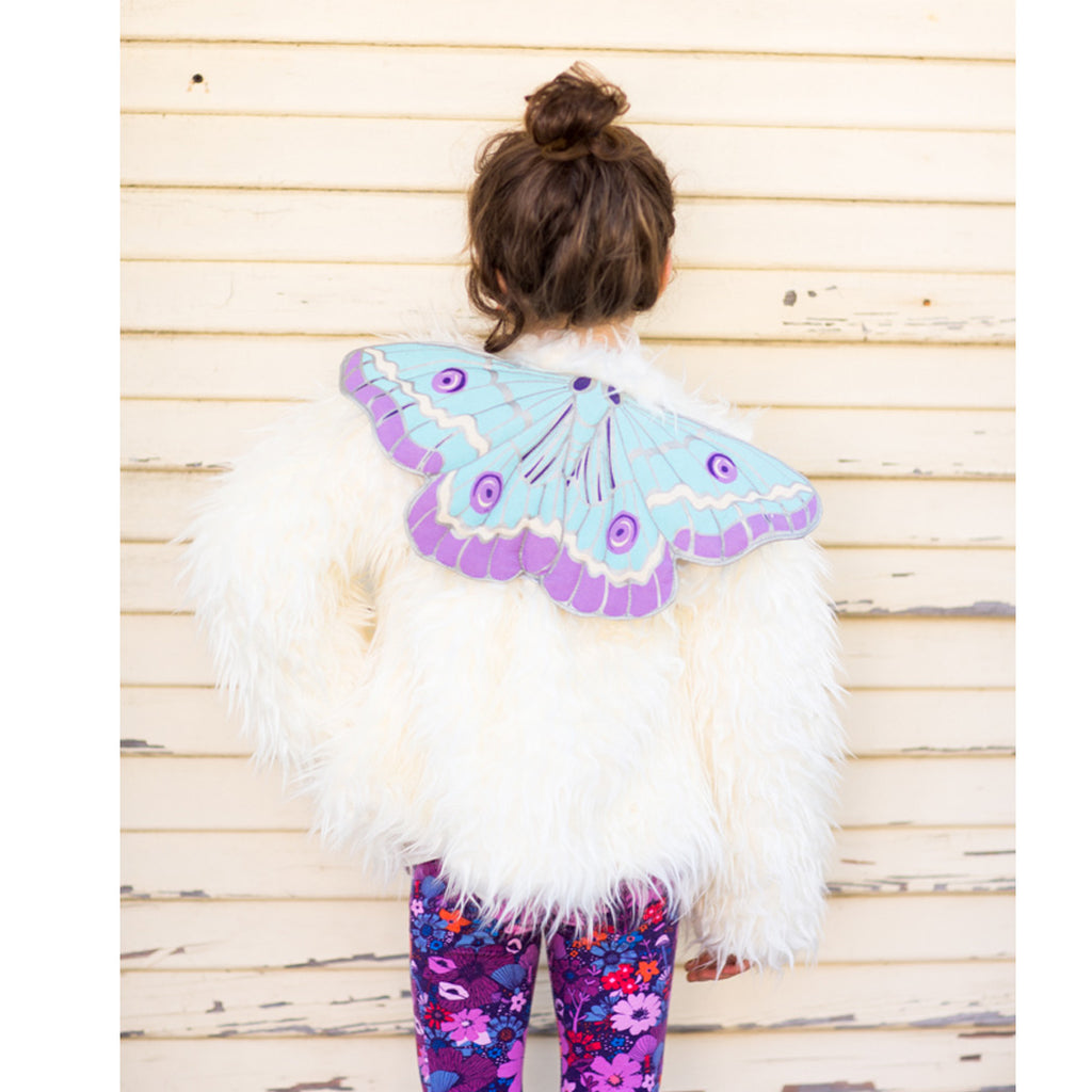 Holliday Ice butterfly wings fairytale costume set for child with skirt and tiara for dress up, playwear by lovelane designs