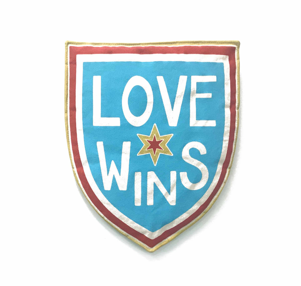 Blue LOVE WINS Shield