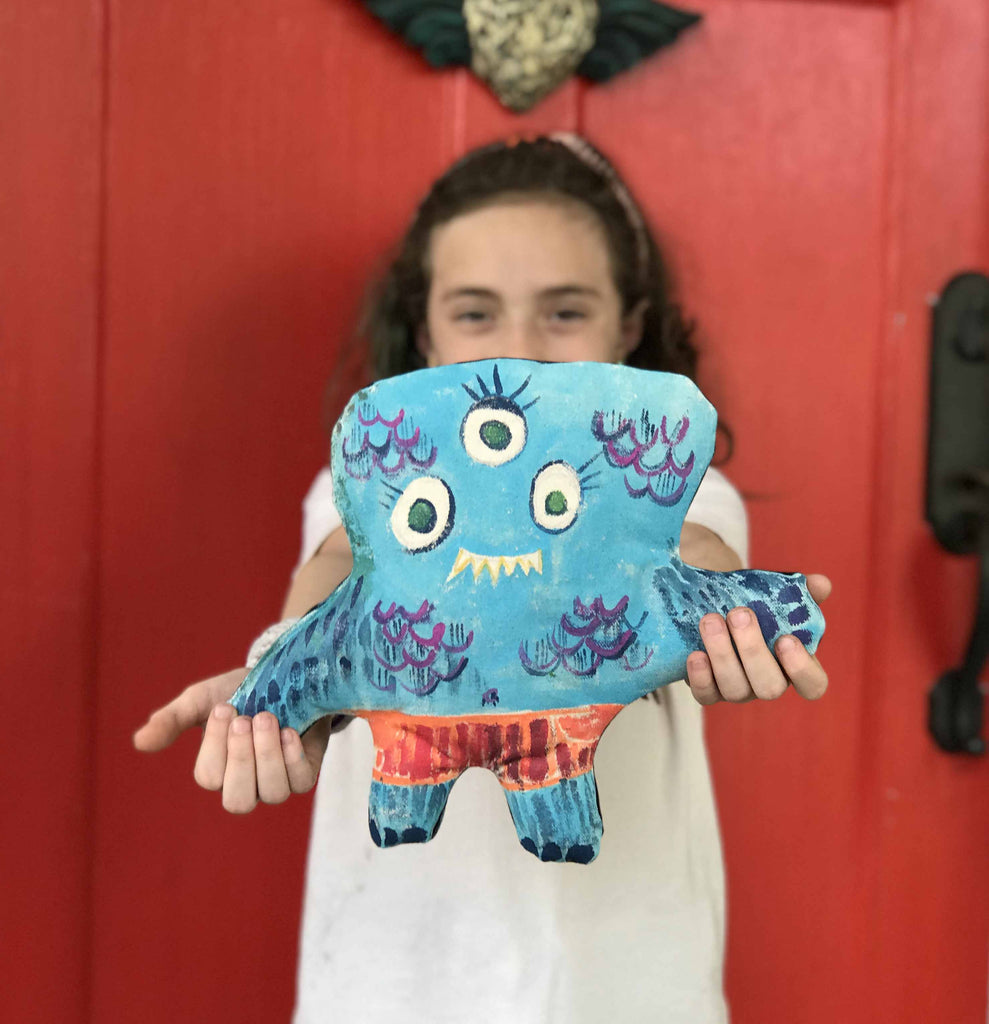 Paint Your Own Monster Stuffie (5 projects) + FREE SHIPPING