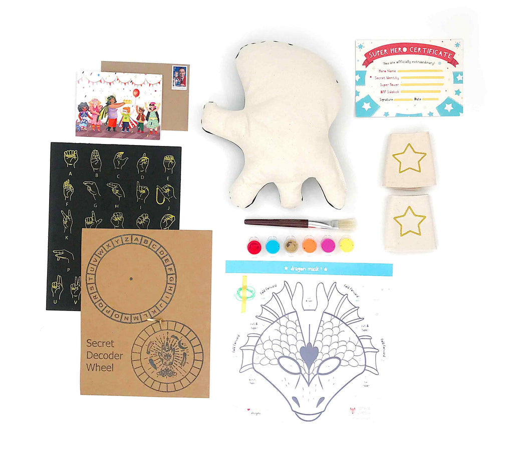 Paint Your Own Super Monster Stuffie Kit (6 projects) = FREE SHIPPING